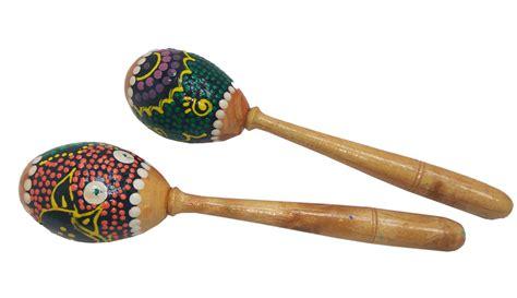 Marakas Kayu Mainan Musik Bayi marakas batok 2pc mainan kayu