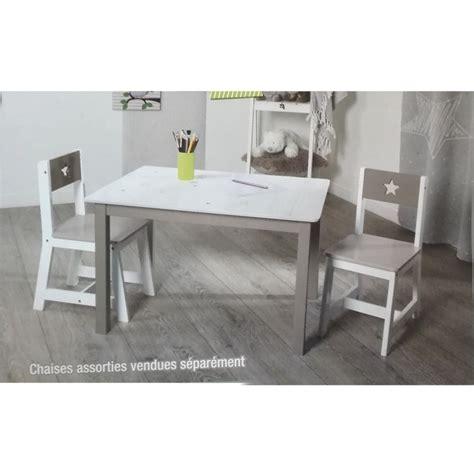 chaise et table pour enfant chaise taupe pour enfant en bois les douces nuits de ma 233