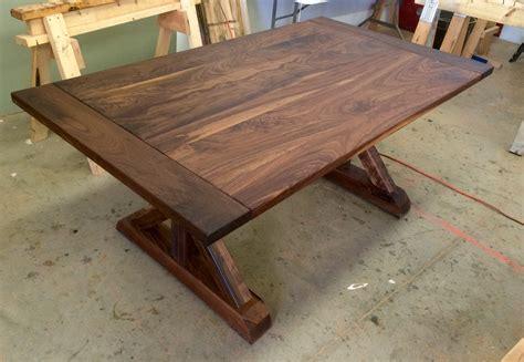 black walnut traditional trestle table ks woodcraft