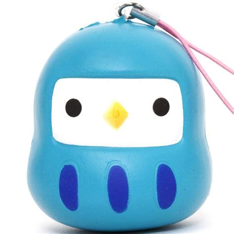 modes 4 u squishy teal bird squishy cellphone charm food squishy