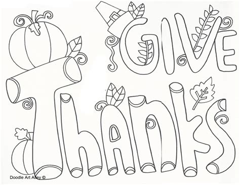 thanksgiving coloring pages doodle art alley