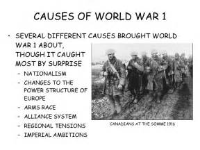 Causes Of The World War Essay by Causes Of World War 1