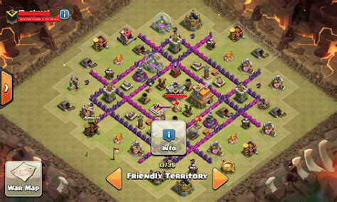 kumpulan wallpaper game coc base war th 7 coc anti naga terkuat dengan air sweeper