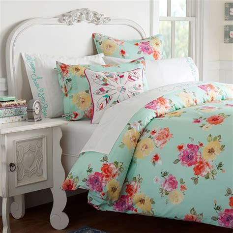 pbteen bedding junk gypsy country blooms duvet cover sham pool pbteen