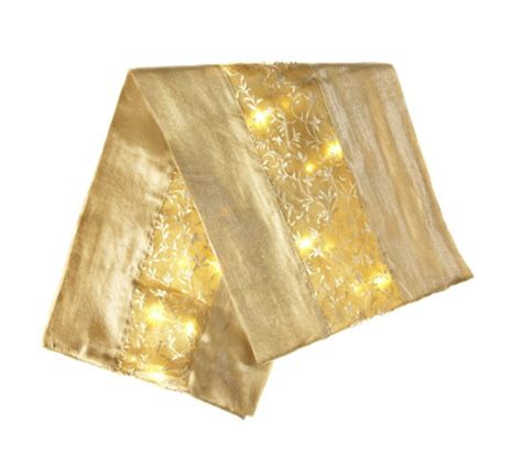 table runner with lights bethlehem lights table runner with 20 led lights qvcuk