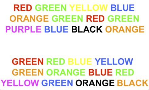 stroop color word test the stroop effect jes 250 s gil hern 225 ndez