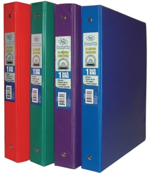 wholesale 1 inch 3 ring vinyl binder sku 1909812 dollardays