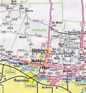 hidalgo county map hotels motels