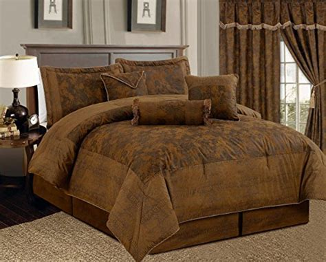 7 piece dark camel brown lavish oversize 106 quot x 94