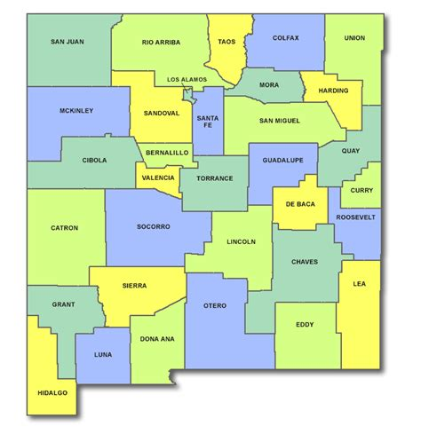 new mexico county map beaupre dreammaker carts