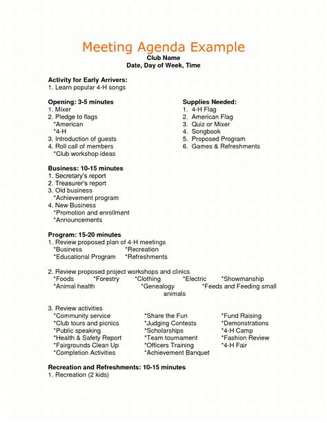 meeting themes exles sle agenda for business meeting google search