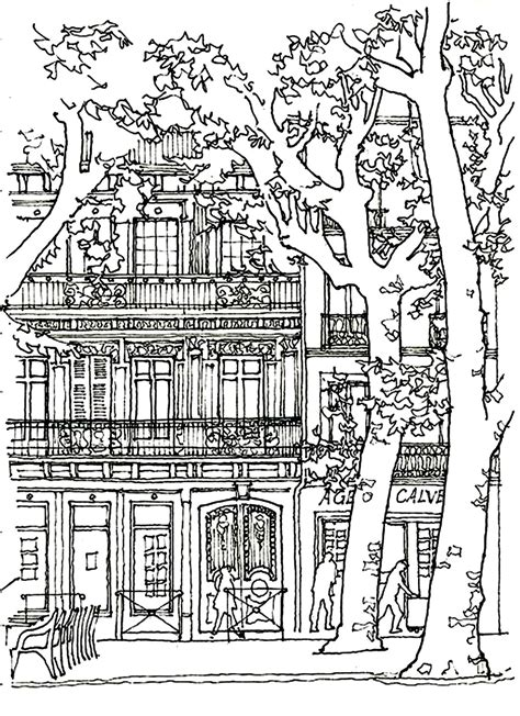 coloring pages for adults architecture architecture house tree architecture and living