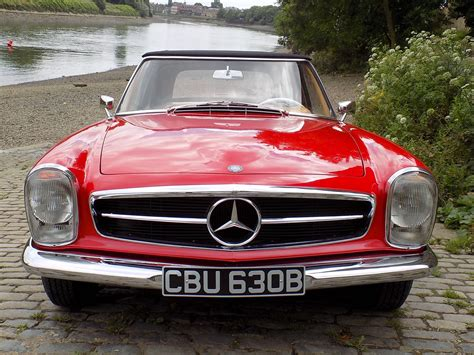 classic red mercedes classic chrome mercedes benz 230 sl pagoda sports 1964