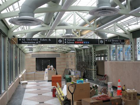 Penn Station Interior Map by Entrance To Nj Transit Concourse Opens At New York
