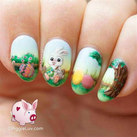 easter nail designs piggieluv painting easter eggs nail art