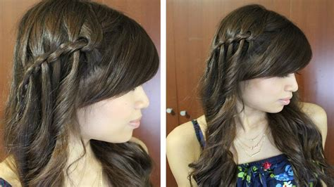 hairstyles braids youtube boho waterfall twist hairstyle for medium long hair