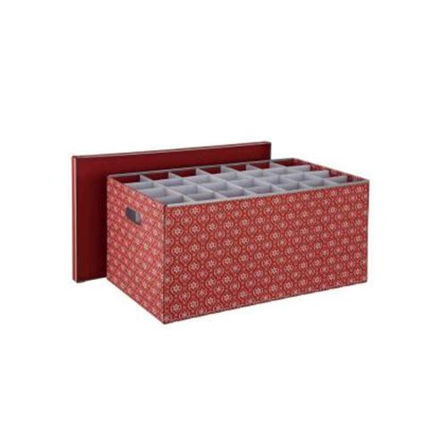 neu home holiday cardboard 56 compartment ornament storage
