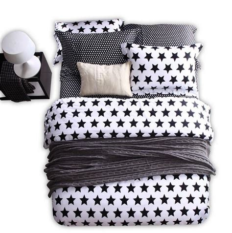 black and white striped comforter modern black white geometric bedding set star striped