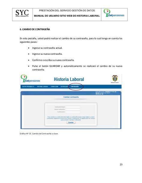 colpensiones historia laboral historia laboral del seguro social colpensiones html