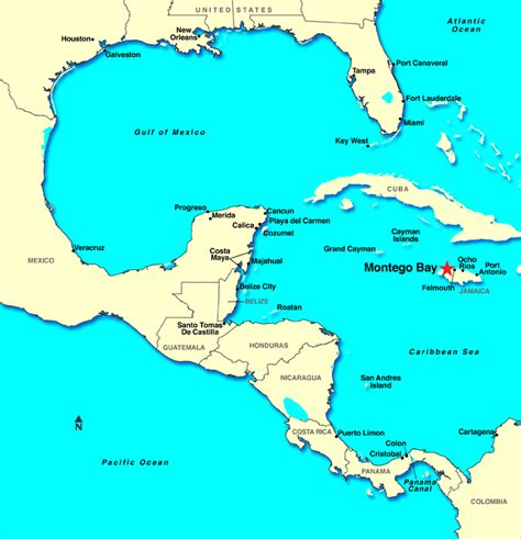 houston to jamaica map montego bay jamaica discount cruises last minute