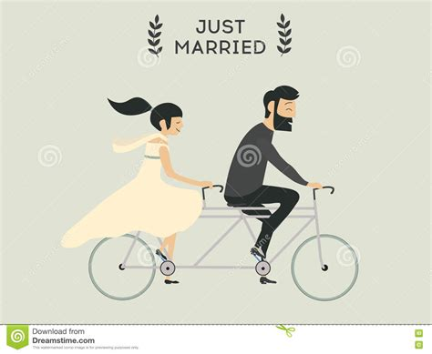Wedding On Bicycle by Wedding On Bicycle Stock Vector Illustration Of