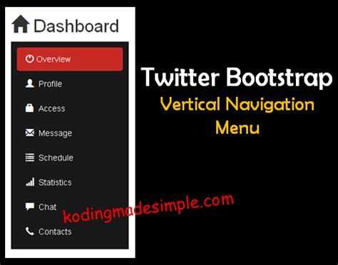 bootstrap tutorial left menu stylish bootstrap sidebar menu exle