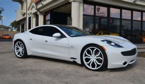 for sale: white 2012 fisker karma with giovanna wheels