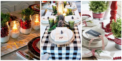 table top decor 32 christmas table decorations centerpieces ideas for