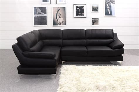 Luxury Black Leather Corner Sofa Furniture Mommyessence Com