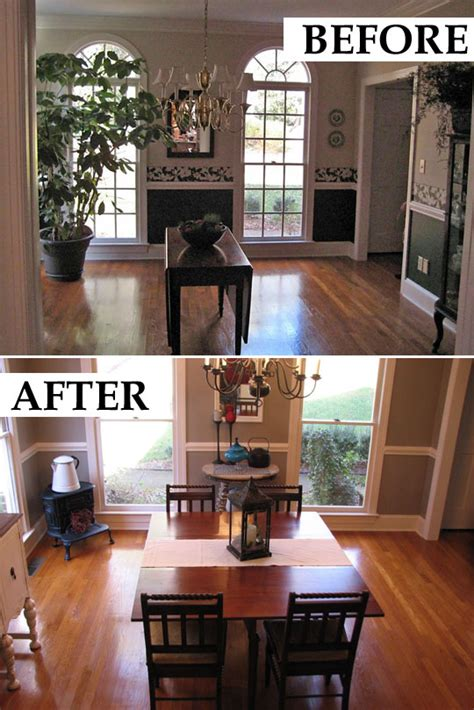 Best Dining Room Makeovers Before And After A Makeover Of A 1991 Dining Room
