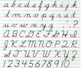 cursive handwriting chart writing
