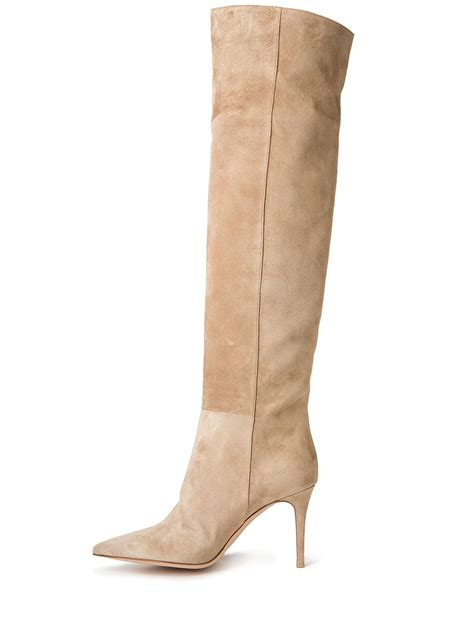 gianvito the knee suede boots in lyst