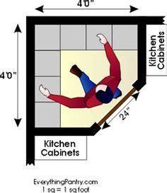 kitchen pantry floor plan     corner closet