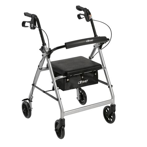 drive walker with seat drive walker rollator with fold up removable back