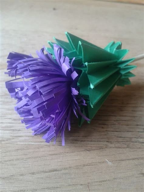 scottish crafts for origami paper scottish thistle they said it could be
