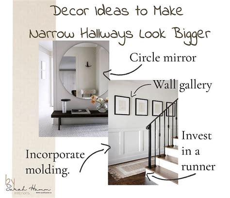 decor ideas    narrow hallways  bigger sarah