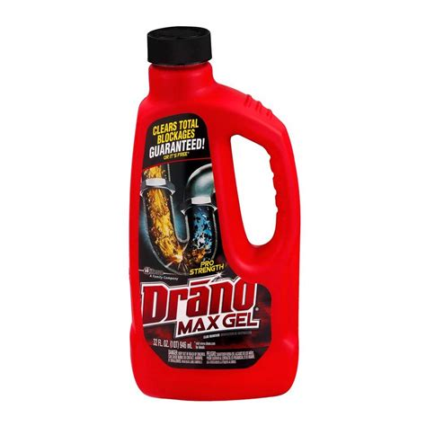 Drano 32 oz. Max Gel Pro Strength Clog Remover (12 Pack) 00117   The Home Depot