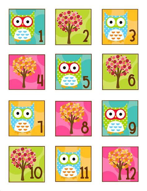 owl printables for classroom owl calendar numbers schoolgirl style
