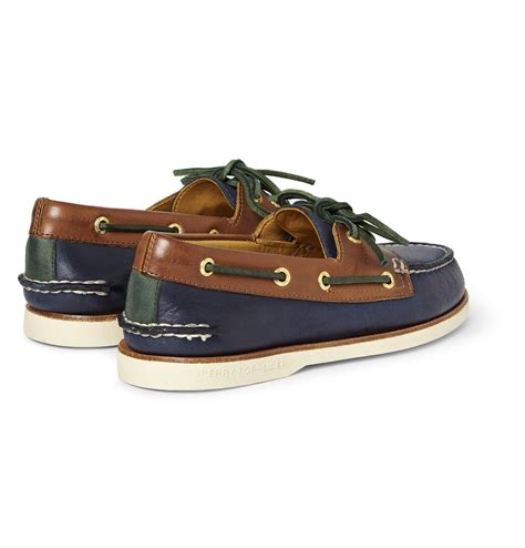 blue sperry boat shoes lyst sperry top sider americas cup leather boat shoes in