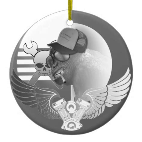 grease monkey tree ornament zazzle