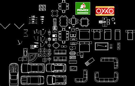 muebles dwg planos de muebles 2d en dwg autocad objetos varios