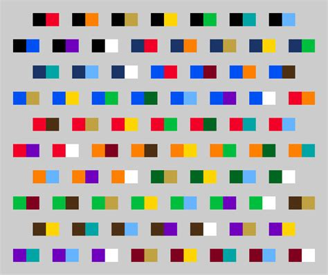 color pairings color schemes all 2 color schemes are based off these 15