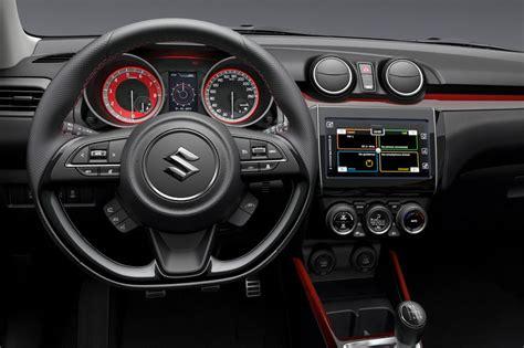 interieur swift sport 2018 suzuki swift sport interior confirms manual 1 0t