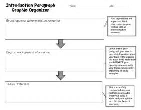 Essay Writing Introduction Paragraph by Introductory Paragraph Graphic Organizer