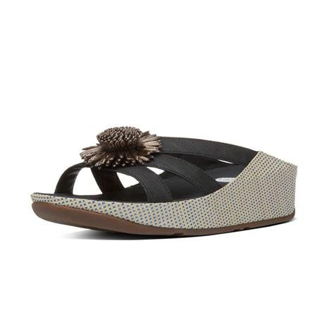 slide sandals fitflop rosita slide sandals black s ss16 slip