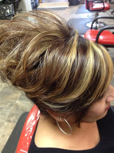 chunking highlights hair pictures chunky highlights highlights pinterest chunky