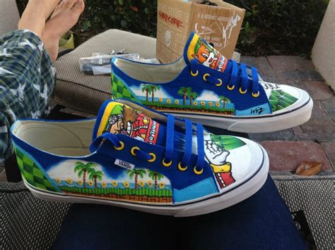 sonic the hedgehog shoes for check out these painted sonic the hedgehog shoes