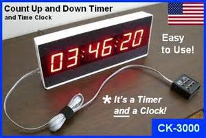 Easy to use large countdown clock or count up clock