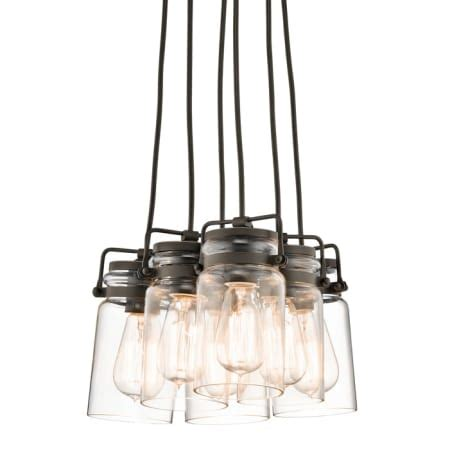 shop kichler menlo park 12 01 in olde bronze wrought iron kichler 42877oz olde bronze brinley 6 light 12 quot wide