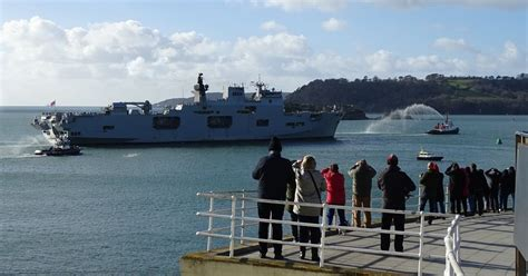 herald plymouth uk hms arrives in plymouth for the time